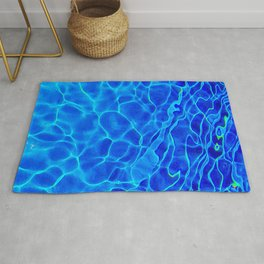 Blue Water Abstract Rug