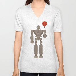 The Robot and The Balloon Unisex V-Neck