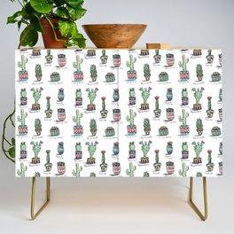 Cactus and Succulent Pattern Credenza