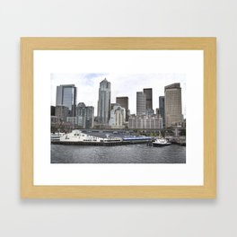 Central Waterfront Seattle Framed Art Print