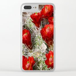 Beauty On Throns Clear iPhone Case