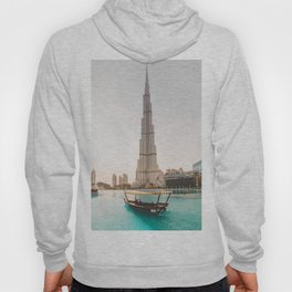 A boat and the Burj Hoody