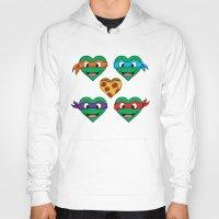 ninja turtle Hoodies featuring Ninja Turtle Hearts by Sam Skyler
