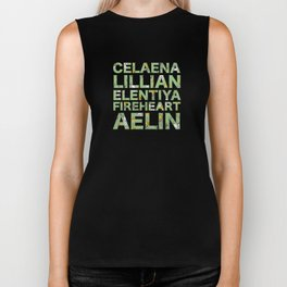 The many names of Aelin Galathynius Biker Tank