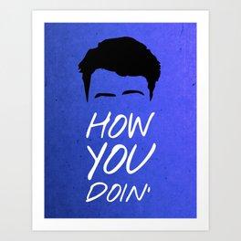 Friends 20th - Joey How You Doin' Art Print