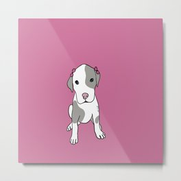 Millie The Pitbull Puppy Metal Print