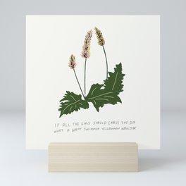 Mi Believe Flower Illustration Lyric Art Mini Art Print