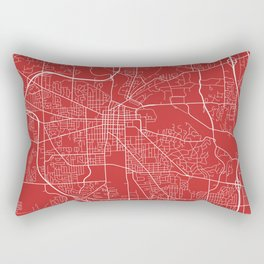Ann Arbor Map, USA - Red Rectangular Pillow