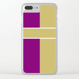 Team Color 6....Gold,purple Clear iPhone Case
