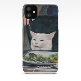 Woman Yelling at Cat Meme-2 iPhone Case