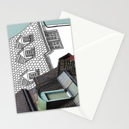 Rooftop Part I Pastiche  Stationery Cards