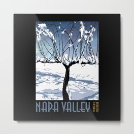 Winter in the Vineyard Poster Metal Print
