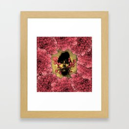 I Am Serius With Flowers Framed Art Print