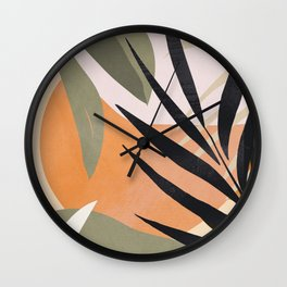 Abstract Art Tropical Leaves 2 Wall Clock