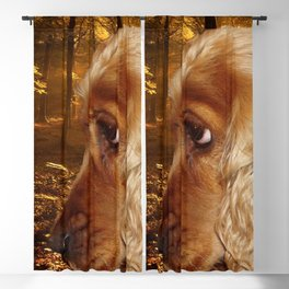 Dog Cocker Spaniel Blackout Curtain