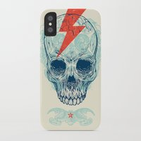 pop iPhone & iPod Cases featuring Skull Bolt by Rachel Caldwell
