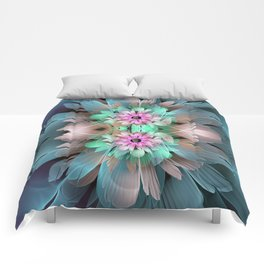 Soft coloured Twin Flowers Comforters