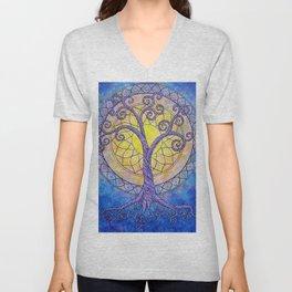 Illuminate Series tree of life mandala Unisex V-Neck