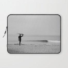 Surf Photography Print, Malibu California, Surf Art, Surf Decor, Black and White Print, Wall Art Laptop Sleeve
