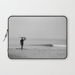 Surf Photography Print, Malibu California, Surf Art, Surf Decor, Black and White Print, Wall Art Laptop Sleeve