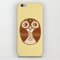 navajo iPhone & iPod Skins featuring Navajo Owl  by Terry Fan