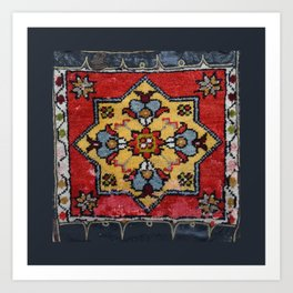 Antique Carpet Sadle Bag Art Print