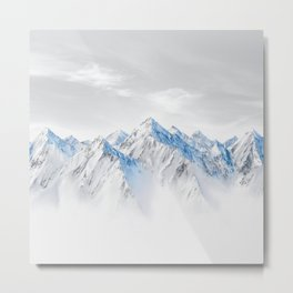 Snow Capped Mountains Metal Print