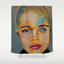 Heterochromia boy by ilya konyukhov (c) Shower Curtain