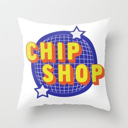 Chip Shop Throw Pillow
