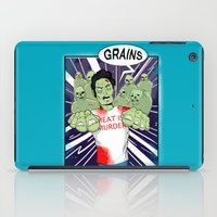 vegetarian iPad Cases featuring Once a vegetarian... by OneAngryBear