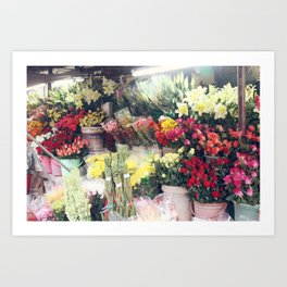 Flower Market, Hoi An Art Print