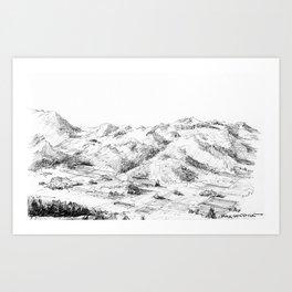 Diamond Mountain Art Print