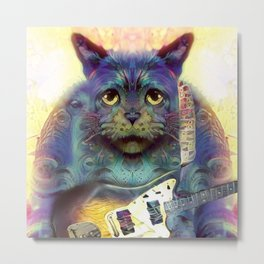 Catnip Guitarist (Electric Catnip) Metal Print