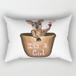 Kangaroo Baby: It's a Girl  Rectangular Pillow