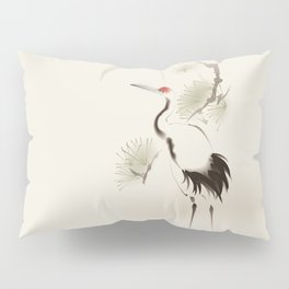 Oriental Red-Crowned Crane 002 Pillow Sham
