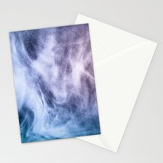 Blue and purple abstract heavenly clouds Stationery Cards