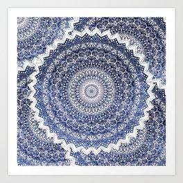 COLD WINTER MANDALAS Art Print