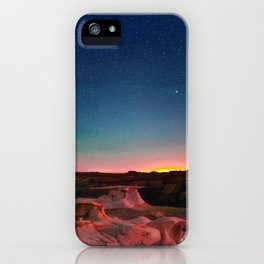 Bisti Badlands Hoodoos Under New Mexico Stary Night iPhone Case