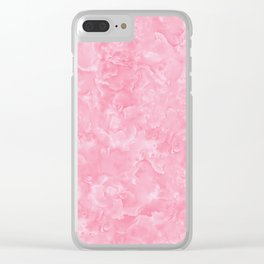 Rosy Scales Marble Texture Clear iPhone Case