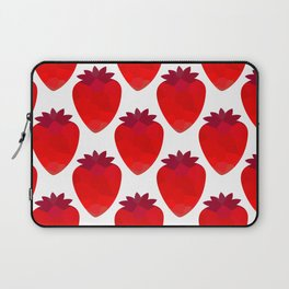 Low poly strawberries Laptop Sleeve