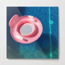 Rose blue swimming pool Metal Print