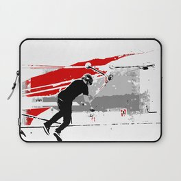 Spinning the Deck - Tail-whip Scooter Stunt Laptop Sleeve