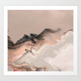Marble Dream: a digital dreamscape Art Print