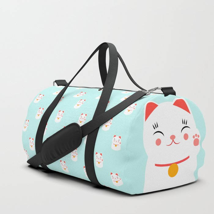 Lucky happy Japanese cat pattern Duffle Bag
