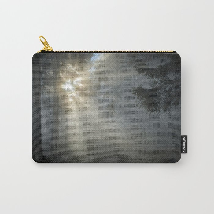 Winter Sunrise in the Forest Carry-All Pouch