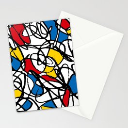 Mondrian Doodle Scribble Stationery Cards
