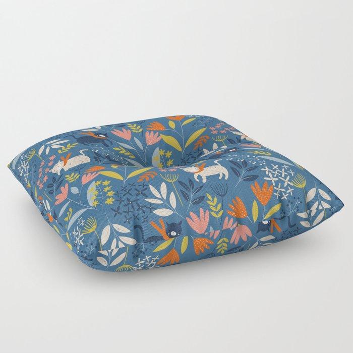 Cats & Flora Floor Pillow