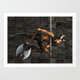 Pole Creatures: Minotaur Art Print