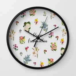 Bloom From Within Wall Clock