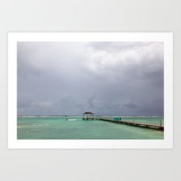 """Travel & Beach Photography """"Dark clouds over a turquoise sea"""" 